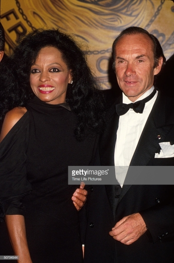 Singer Diana Ross and husband, shipping magnate Arne Naess. (Photo by Time Life Pictures/DMI/The LIFE Picture Collection/Getty Images)